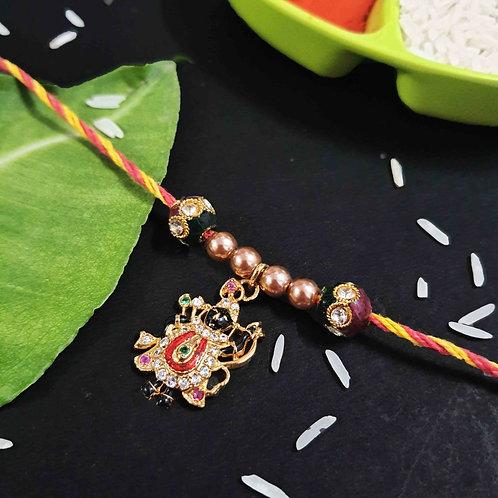 Gold plated AD Shreenathji rakhi