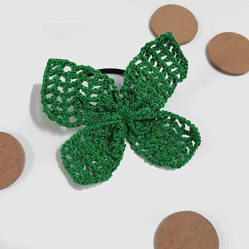 Green Butterfly Crochet hairtie