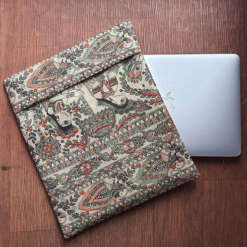 Madhubani print Laptop Sleeve