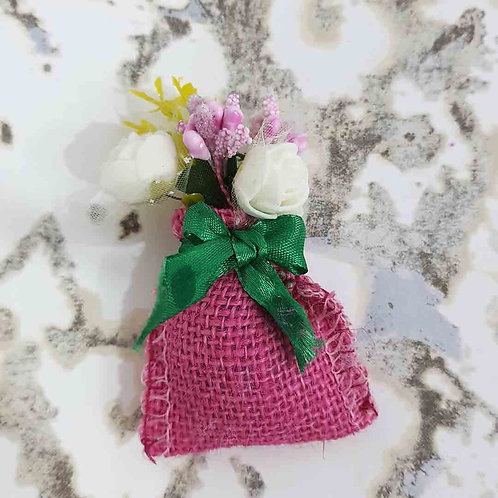 Mini jute bouquet magnet
