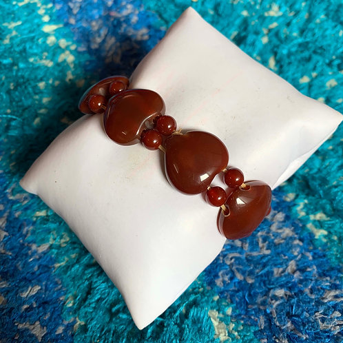 Unique carnelian bead Wristlet