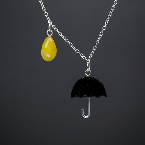 Umbrella & Raindrop Pendant
