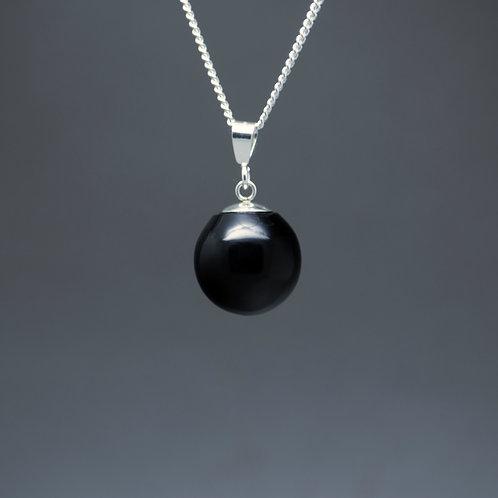 Black 'Pearl' Pendant