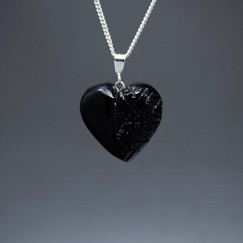 Half Greenbury Heart Pendant