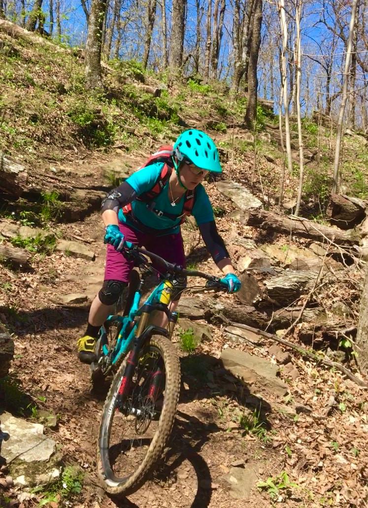 Tara's type of trail at Mt. Kessler.