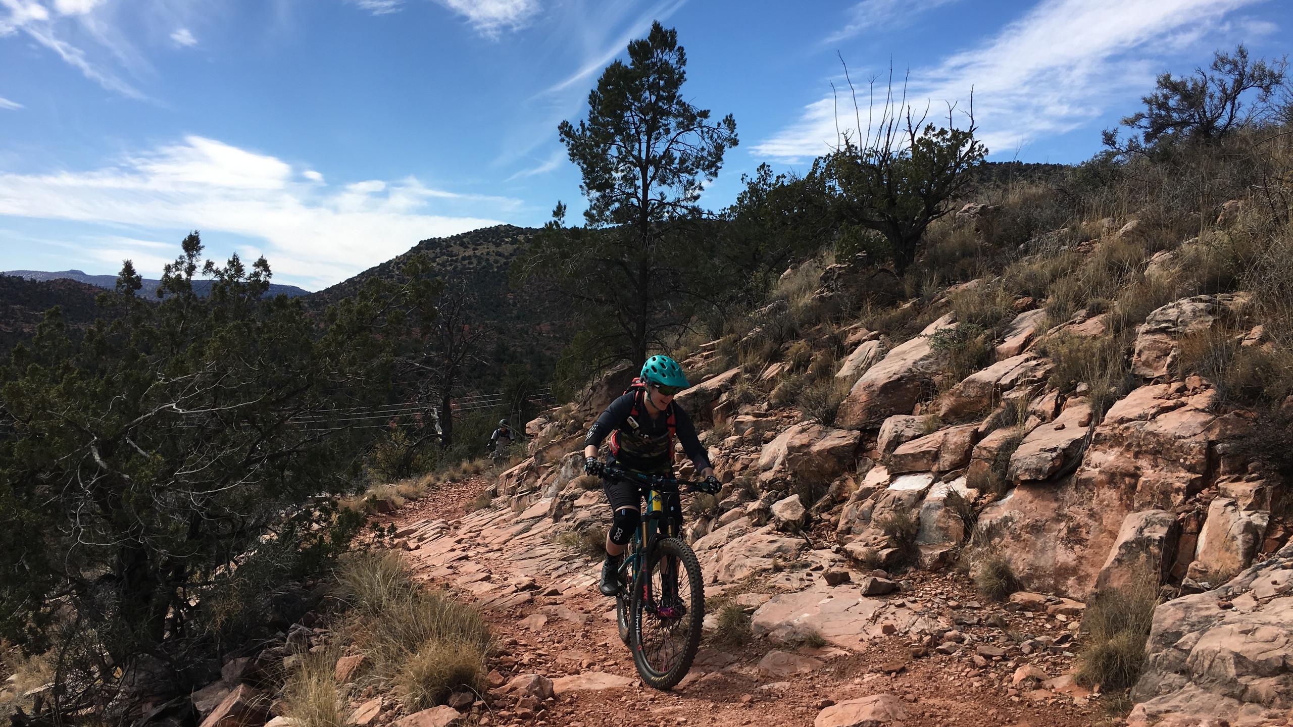 Climbing up Carroll Canyon