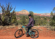 North Star Mountain Bike Guide instructor Byron Adams in Moab, Utah.