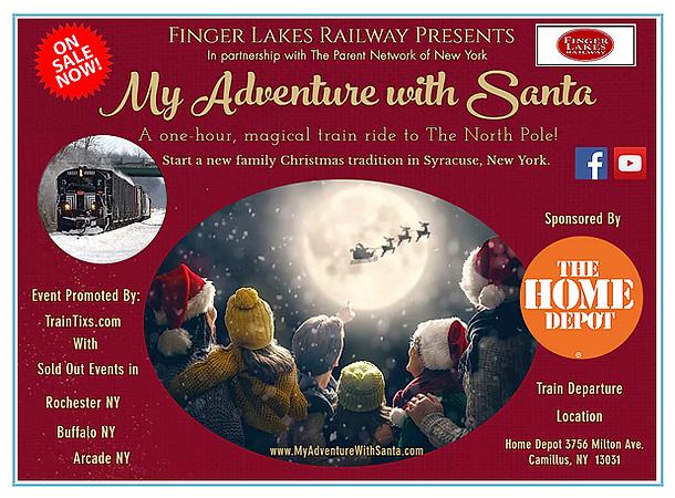 Santa Train Rides Rochester NY at myadve