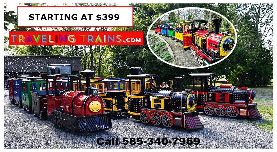 Traveling Trains Advertisement New York.