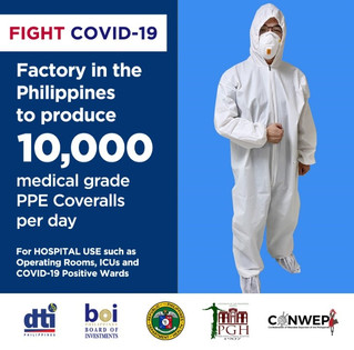 Garment exporters and Government collaborate to produce medical-grade coverall PPEs for health worke