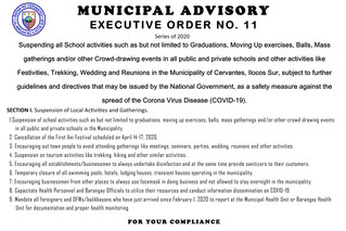 Municipal Advisory: Executive Order No. 11