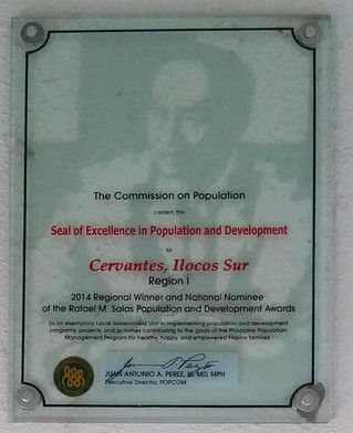 Accomplishments of Cervantes, Ilocos Sur during the term of Former Mayor BENJAMIN N. MAGGAY.