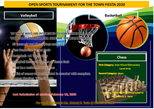 OPEN SPORTS TOURNAMENT FOR THE TOWN FIESTA 2020