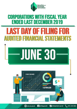 DEADLINE FOR SUBMISSION OF ANNUAL FINANCIAL STATEMENT
