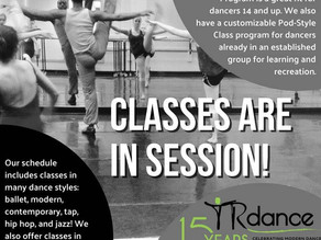 TRDance Center – Classes are in Session!