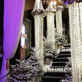 Décoration majestueuse cristal et blanc pour un Noël magique
