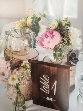 Centre de table mariage Talloires