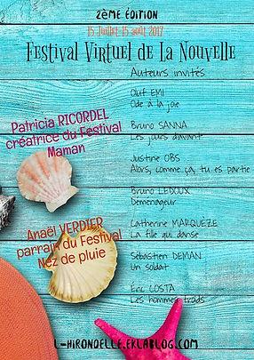 Affiche du Festival Virtuel de La Nouvelle 2017