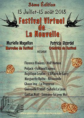 Affiche du Festival Virtuel de La Nouvelle 2018