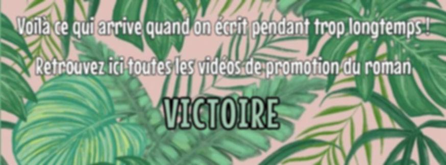 Vidéo de promotion du roman Victoire de Patricia Ricordel