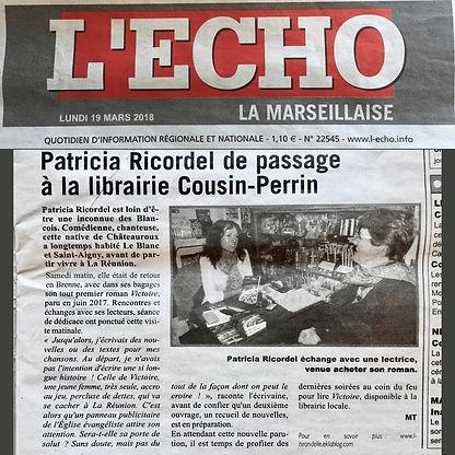 Article L'Écho La Marseillaise