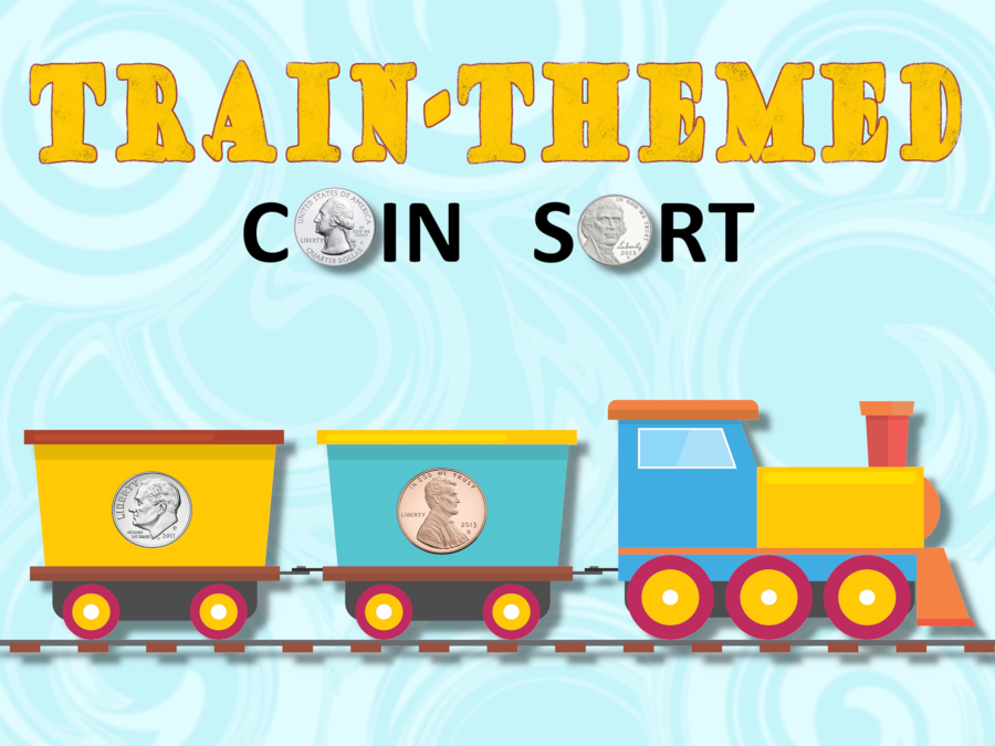 Cover page for train-themed coin sort.