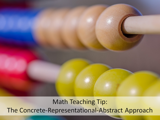 """Math Teaching Tip: Build a Bridge from Concrete to Abstract with the """"Concrete–Representational"""