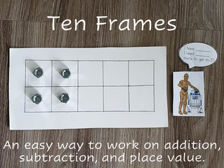Fun with Ten Frames (And Also Learning Place Value and Number Sense)
