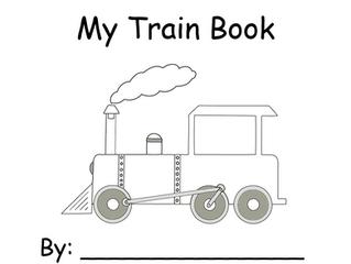Train Color Words Book