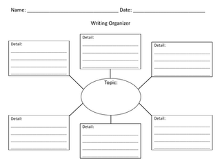 Web Graphic Organizer with Lines