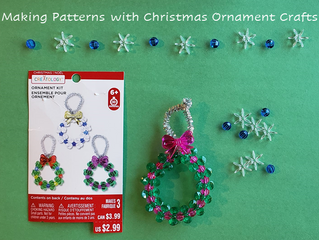 Making Patterns with Christmas Ornament Crafts