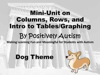 Mini-Unit on Columns, Rows, and Intro to Tables/Graphing (Dog Theme)