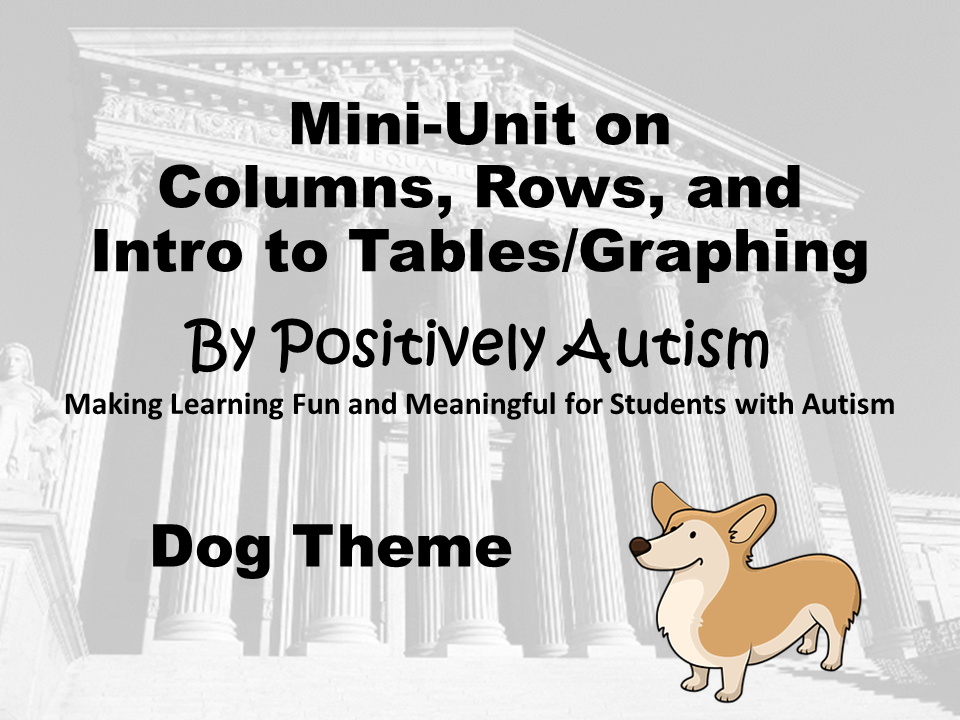 A screenshot of the cover image of the mini unit. It shows a building with colums and a picture of a dog.