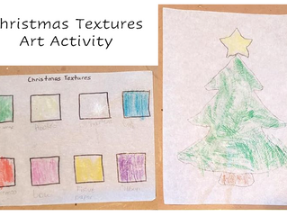 Christmas Textures Art Activity