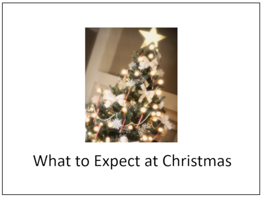 "Cover of a social narrative, ""What to Expect at Christmas"""