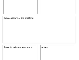 Math Word Problem Graphic Organizer