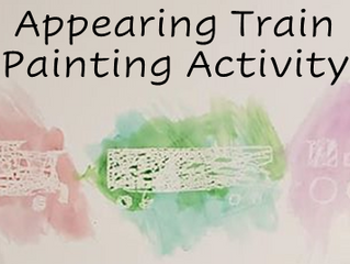 Appearing Train Painting Activity