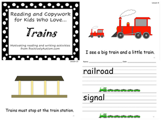 Reading and Copy Work for Kids Who Love Trains
