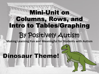 Mini-Units on Columns, Rows, and Intro to Tables/Graphing
