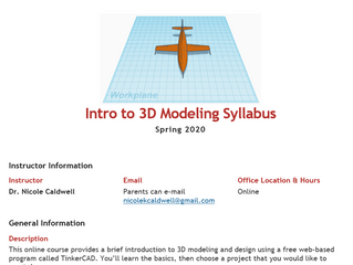 Free Online 3D Modeling Class for High School Students with Autism