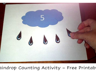 Count the Raindrops Activity for Counting 1 - 10