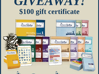$100 Giveaway for Spelling or Reading Curriculum!