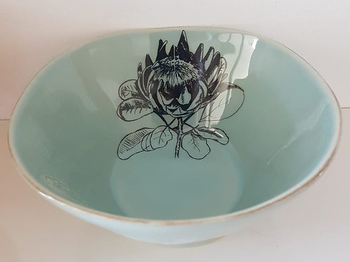 SEA GREEN MEDIUM SNACK BOWL 180mm x 80mm