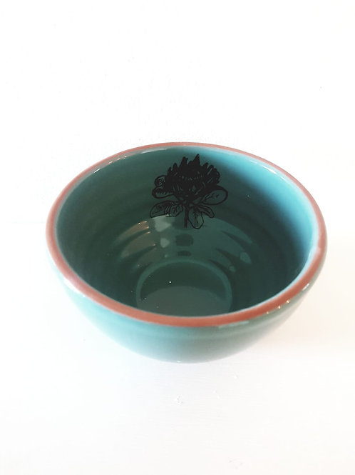 TURQOISE SNACK BOWL 140mm x 90mm