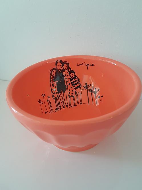 Bright Orange Jelly Bowl