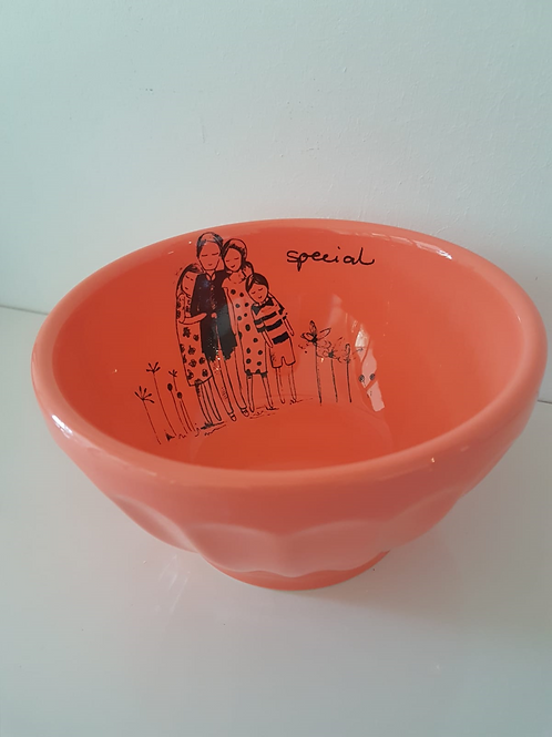 Bright Orange Jelly Bowl, 80 x 130mm