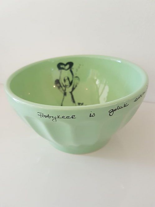 SUMMER GREEN, JELLY BOWL 80mm x 130mm