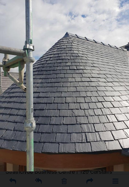 Grey Slate Roof in Glasgow by Strathclyde Roofing Ltd