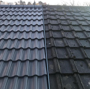 Grey tile roof replacement services in Lanarkshire