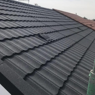 Grey metrotile roof lightweight roofing company